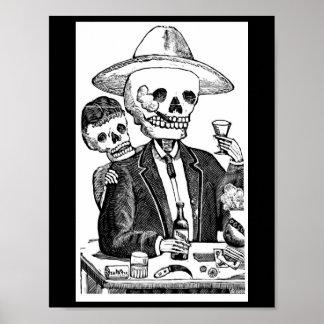 骨組に飲むテキーラおよび煙ること ポスター