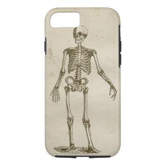 骨組アンティークによって汚される羊皮紙のレトロの骨 iPhone 7ケース