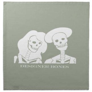 骨組カップルの白いデザインのナプキン ナプキンクロス