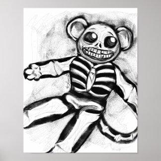 骨組ソックス猿11 x 14ポスター ポスター