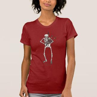 骨組バグパイププレーヤー Tシャツ