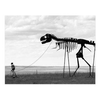 骨組人の歩くの骨組恐竜、SD ポストカード