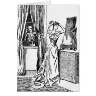 骨組悪鬼モンスターのビクトリア時代の人の女性 カード