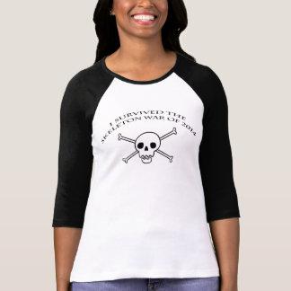骨組戦争の女性の野球のティー2 Tシャツ