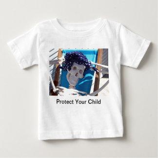 骨組日曜日の水浴者の乳児のTシャツ ベビーTシャツ