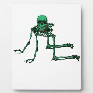 骨組気色悪いヨガのスカルの踊り フォトプラーク