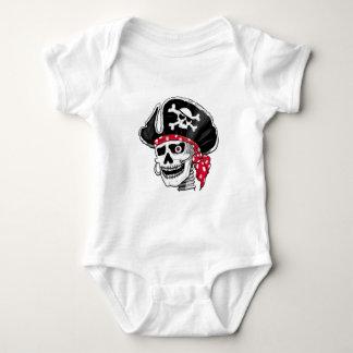 骨組海賊Tシャツ ベビーボディスーツ