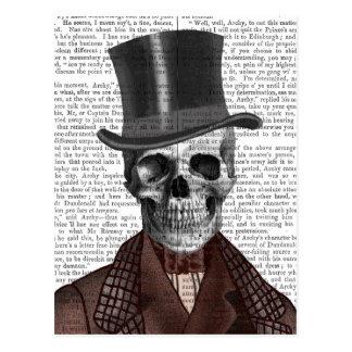 骨組紳士およびシルクハット ポストカード