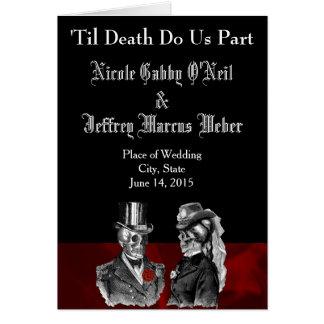 骨組結婚式プログラム カード