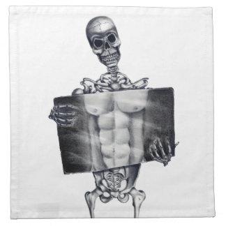 骨組胸部レントゲンのナプキン ナプキンクロス