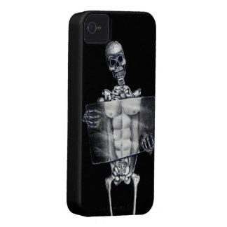 骨組胸部レントゲンのブラックベリーのはっきりしたな箱 Case-Mate iPhone 4 ケース