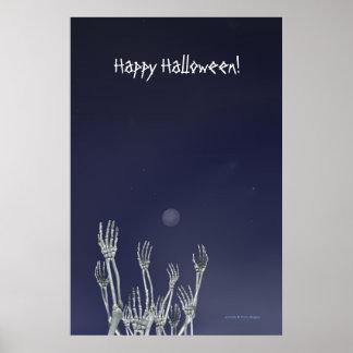 骨組-ハロウィンポスター ポスター