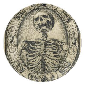 骨組、中世ゴシック プレート