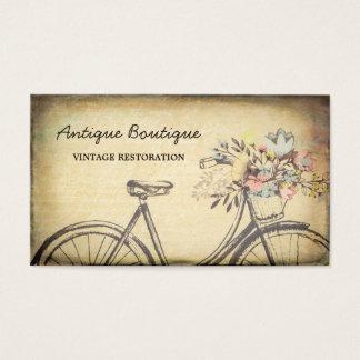 骨董屋のヴィンテージの復帰の花柄の自転車 名刺