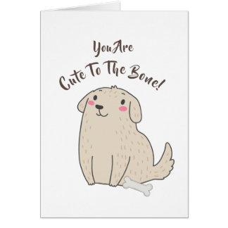 """""""骨""""にかわいいペット小犬 カード"""