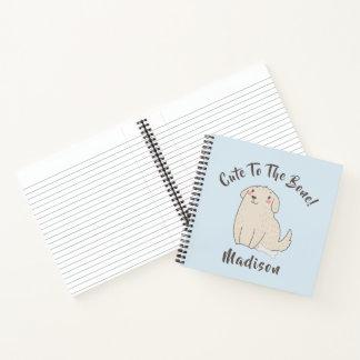 """""""骨""""にかわいいペット小犬 ノートブック"""