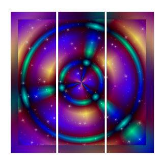 (骨)突起のフラクタルの円-魔法 + あなたのアイディア トリプティカ