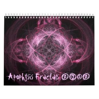 (骨)突起のフラクタル2012のカレンダー カレンダー