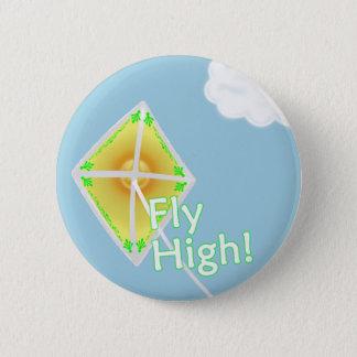 高いはえ! やる気を起こさせるな凧ボタンPin 5.7cm 丸型バッジ