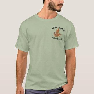 高いカシの鉄道Tシャツ3XLの石造りの緑 Tシャツ