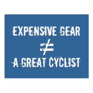 高いギアはすばらしいサイクリストに匹敵しません ポストカード