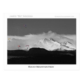 高いコロラド州のロッキー山脈 ポストカード
