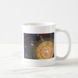 高いフロンティアの植民地化の地図が付いているマグ コーヒーマグカップ