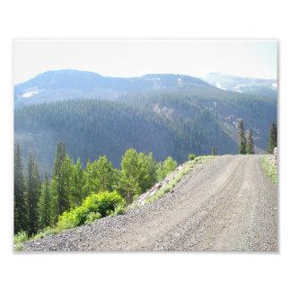 高い山の道 フォトプリント
