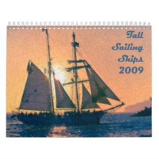 高い帆船のカレンダー カレンダー