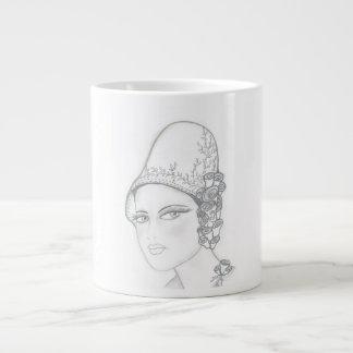高い帽子のフラッパー ジャンボコーヒーマグカップ