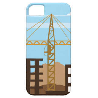 高い建物クレーン空 iPhone SE/5/5s ケース