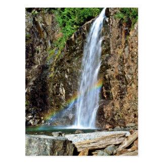 高い流れの滝 ポストカード