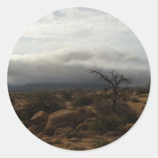 高い砂漠の夏の嵐 ラウンドシール