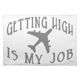高い航空会社のパイロットを得ること ランチョンマット