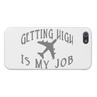 高い航空会社のパイロットを得ること iPhone 5 COVER
