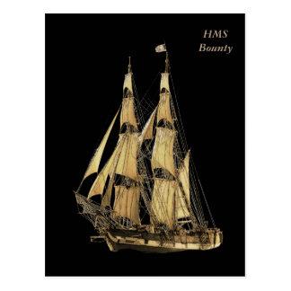 高い船のブラウン及び黒いイメージ ポストカード