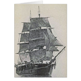 高い船のロゴ カード