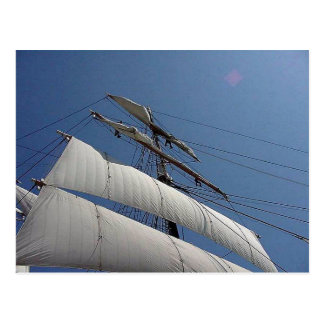 高い船は郵便はがきを航海します ポストカード