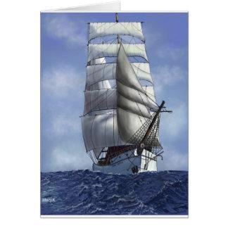 高い船 カード