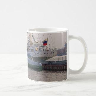 高い船Mirおよび潜水艦 コーヒーマグカップ
