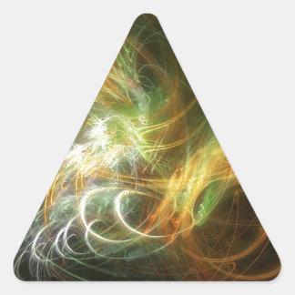 高い詳細および鮮やかな色の絵 三角形シール