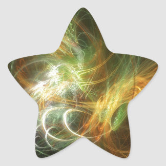 高い詳細および鮮やかな色の絵 星シール
