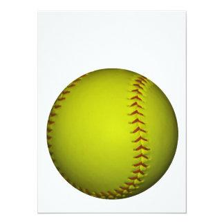 高い|可視性|黄色|ソフトボール パーソナル案内状