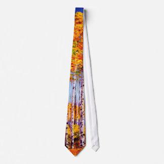 高い《植物》アスペンのタイ オリジナルネクタイ