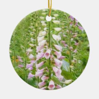 高いFoxglove -木毛の雑種 セラミックオーナメント