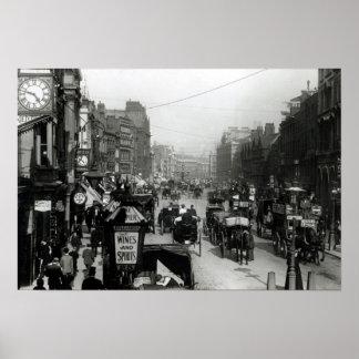 高いHolborn、ロンドン、c.1890 ポスター