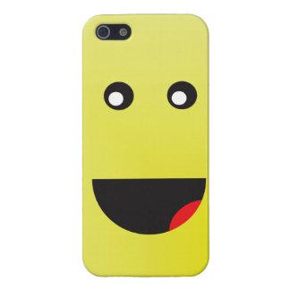 高く黄色く幸せな顔 iPhone SE/5/5sケース