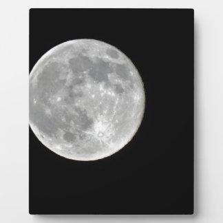 高リゾリューションの満月の写真 フォトプラーク