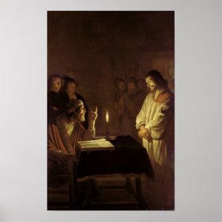 高僧の前のキリスト、1617年 ポスター