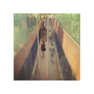 高圧線NYC -恋しく思われたつながり木芸術 ウッドウォールアート